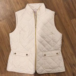 St. John's Bay white quilted vest
